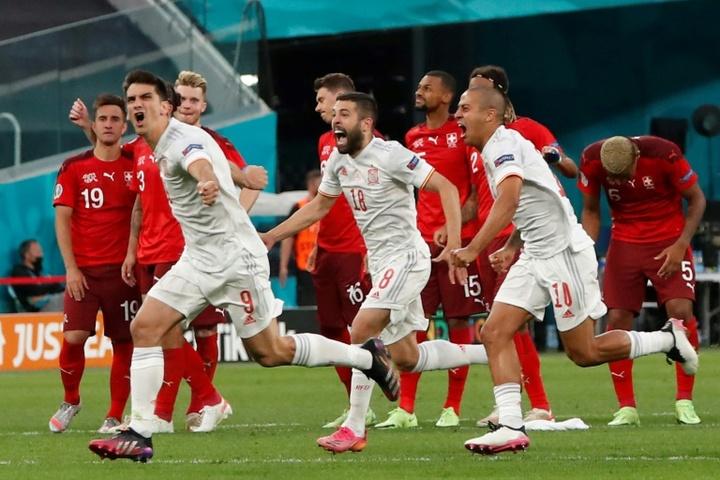 A Espanha está na semifinal da Eurocopa. AFP