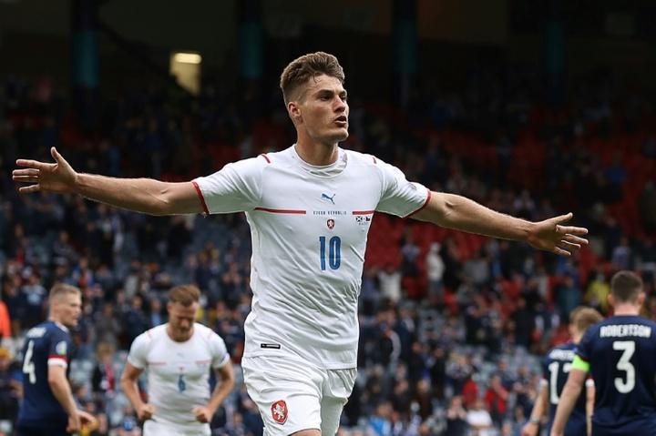 Patrik Schick élu homme du match Écosse-République Tchèque. afp