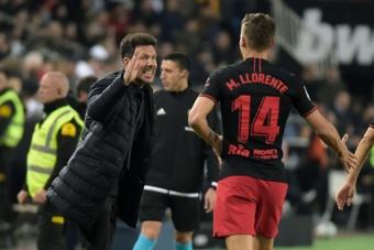 Llorente e Cunha recuperados para o duelo frente ao Liverpool.AFP