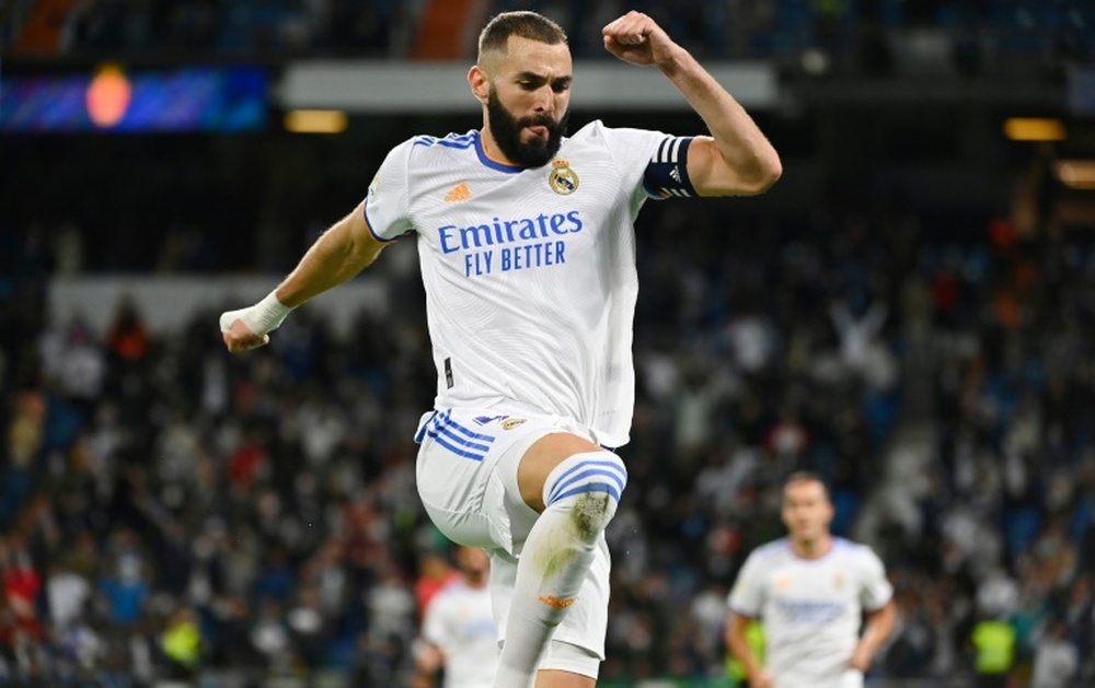 Benzema, LaLiga's player of the month. AFP