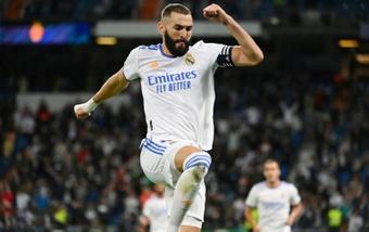 Benzema analizó su actual estado de forma con el Madrid. AFP