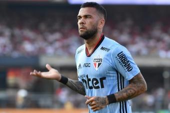 Sem mágoas com o São Paulo, Dani Alves fecha as portas para Corinthians, Palmeiras e Santos. AFP