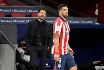 Simeone a révélé qu'il avait interrogé Luis Suarez sur Messi. AFP