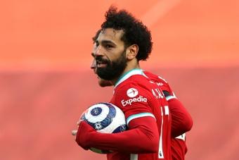 Salah vive uno de los mejores momentos de su carrera. AFP