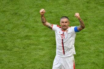 Kolarov saluta l'Italia. AFP
