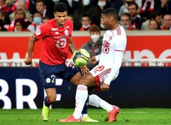 El Lille se estrella ante el Brest. AFP