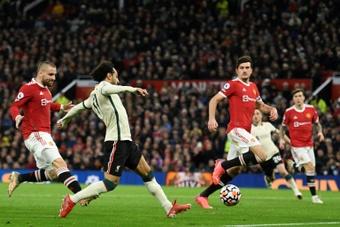 Mohamed Salah, oublié par la défense de Manchester United. AFP