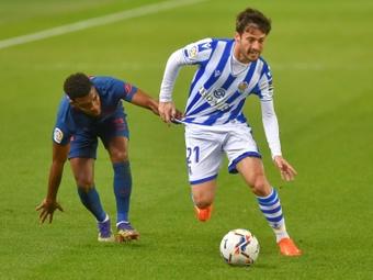 Silva se suma a la lista de bajas de la Real Sociedad. AFP