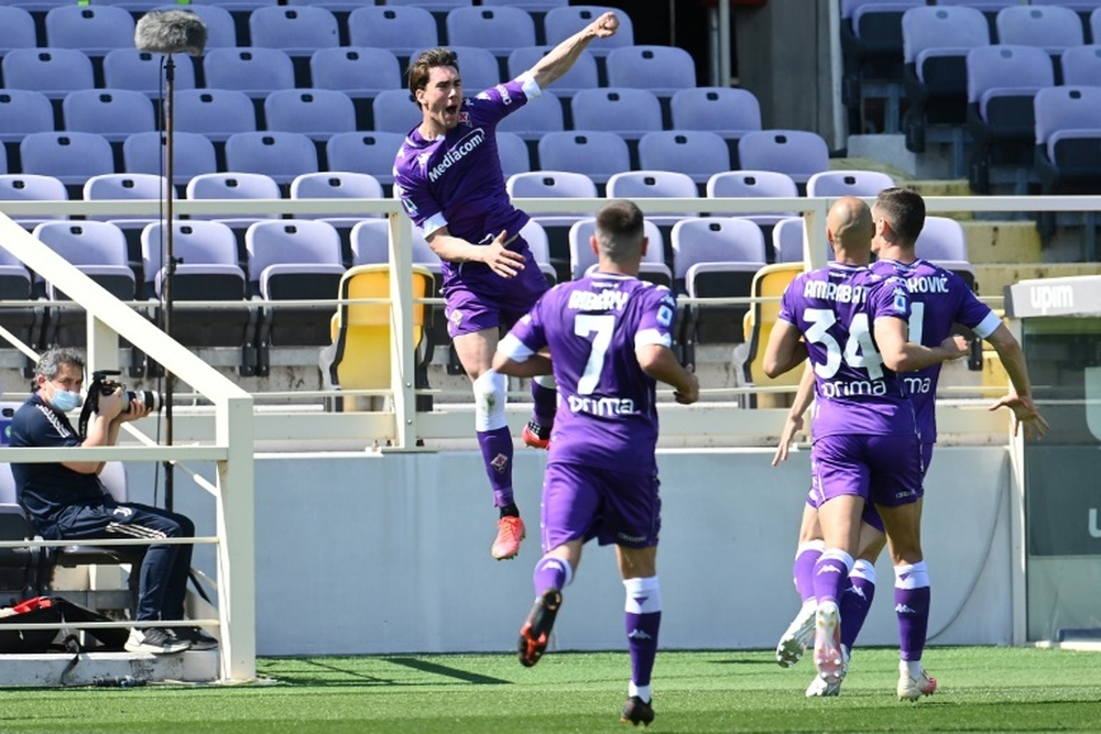 Fiorentina are starting to come to terms with the fact that Vlahovic will leave. AFP
