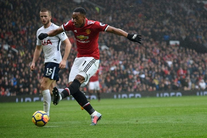 Anthony Martial is on Tottenham's agenda. AFP