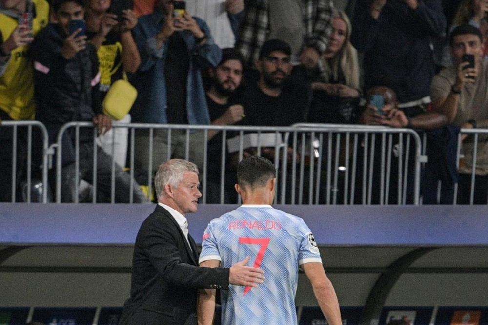 Solskjaer defende CR7 e Bruno Fernandes.AFP