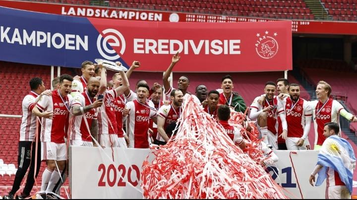 L'Ajax Amsterdam est champion des Pays-Bas 2020-2021. AFP