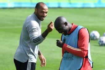 Thierry Henry continue l'aventure avec la sélection de Belgique. AFP