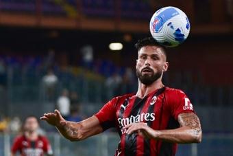 Giroud desembarcou no Milan na última janela de verão. AFP