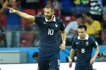 Karim Benzema se vio salpicado por el 'caso Valbuena' en 2015. AFP