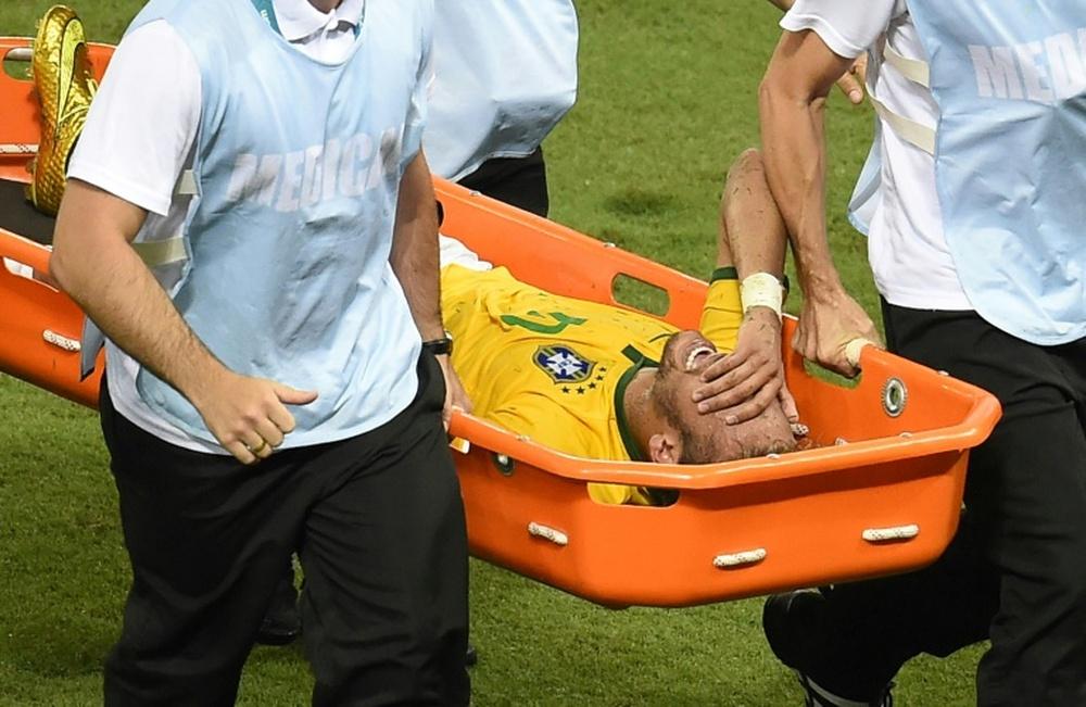Neymar conta seu drama na Copa do Mundo de 2014. AFP