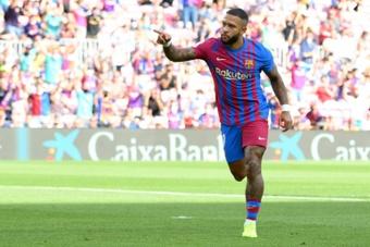 Memphis, seul buteur du Barça. AFP
