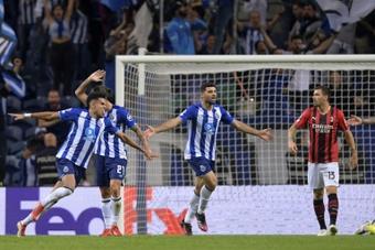 El Oporto venció 1-0 al Milan. AFP