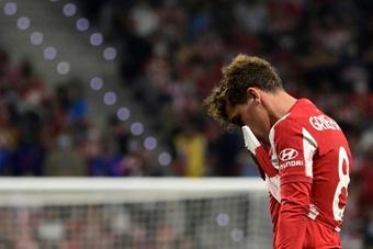 Griezmann terminou a chorar no balneário.AFP