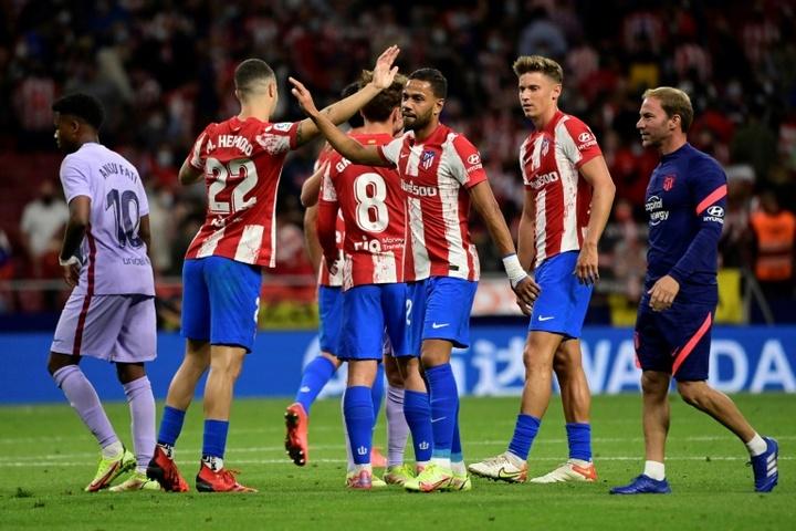 Lemar et l'Atlético crucifient le Barça. efe