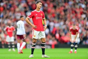Cristiano acabó frustrado el partido contra el Leicester. AFP/Archivo