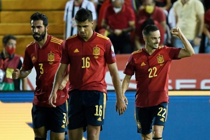 Portugal alucina con la versión de Sarabia con 'la Roja'. AFP