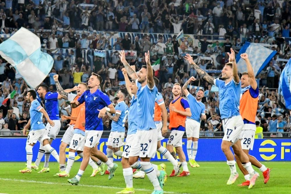 Le formazioni ufficiali di Lazio-Lokomotiv Mosca. AFP