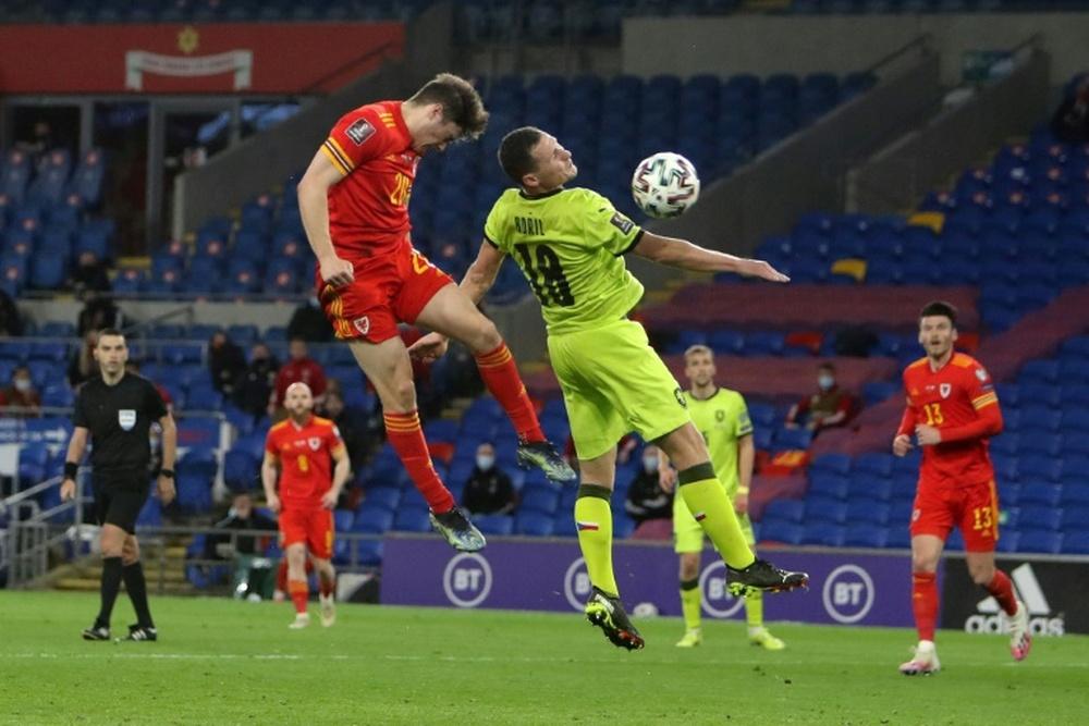 Le milieu de terrain gallois Daniel James marque l'unique du match contre la République tchèque. AFP
