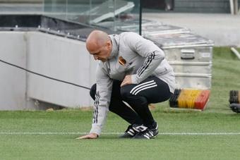 Roberto Martínez dio carpetazo a los rumores sobre su futuro. AFP