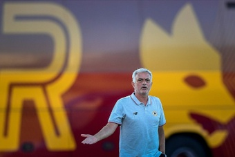 Mourinho is happy at Roma. AFP