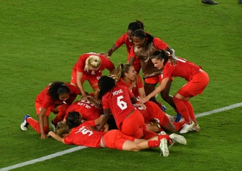 Canada defeated Sweden to win their first even Olympic gold in women's football. AFP