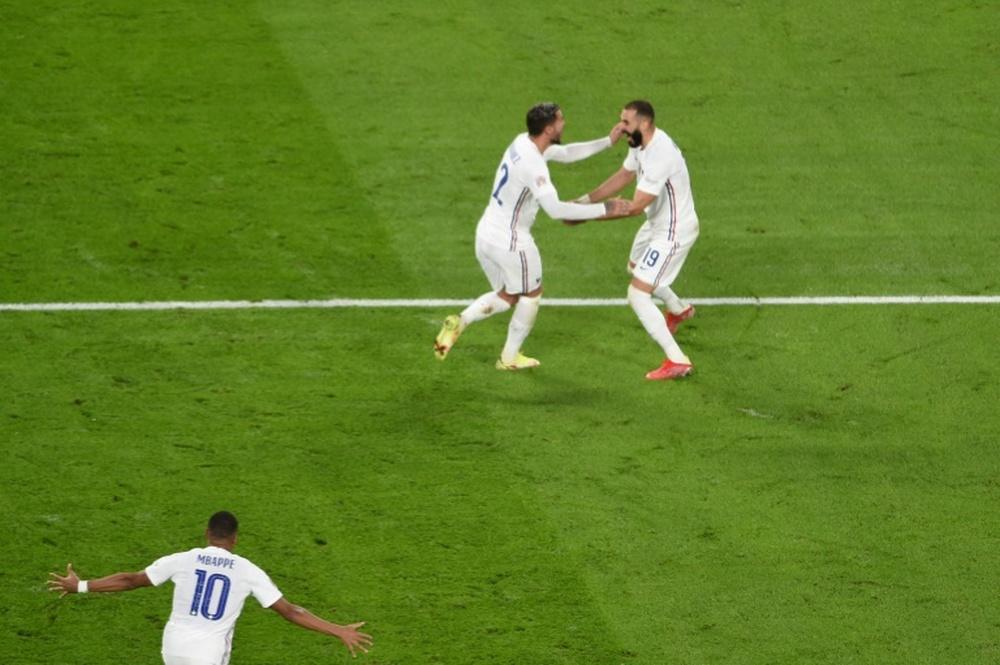 Theo se salió con Francia en la Liga de las Naciones. AFP