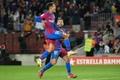 La rage du Brésilien Philippe Coutinho, auteur du 3e but du Barça. AFP