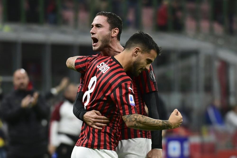 Il Milan passa in vantaggio dopo trenta secondi.AFP