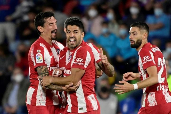 Atlético de Madrid venceu o Getafe por 2 a 1. AFP