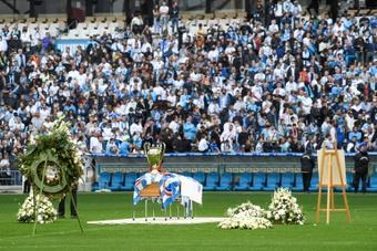 Ce que prépare le Vélodrome pour rendre hommage à Bernard Tapie. AFP