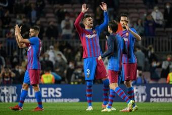 Primeira vitória do Barça na Champions.AFP