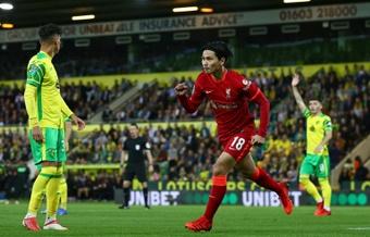 Liverpool fez bonita na EFL Cup sem seus atacantes usuais. AFP