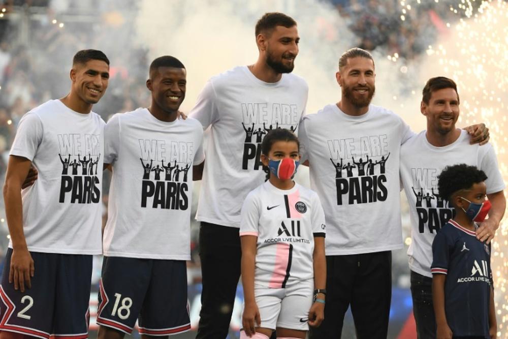 Despite criticism, Wijnaldum is happy at PSG. AFP
