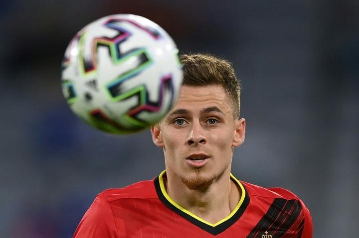 Thorgan Hazard forfait contre la France. AFP