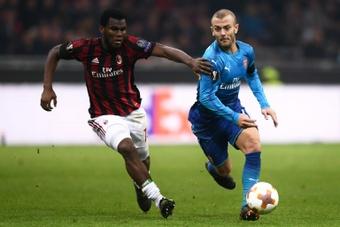 Wilshere ha vuelto a entrenar con el Arsenal. AFP
