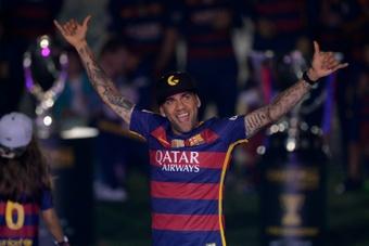 Dani Alves propose ses services au FC Barcelone. AFP