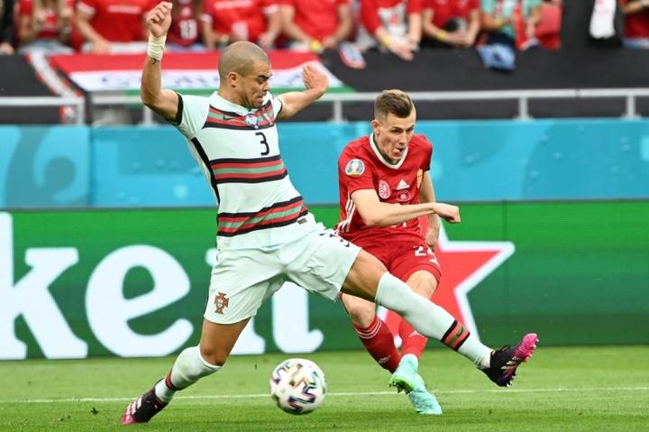 Pepe espère une place en huitième de finale. AFP