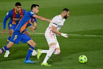 Benzema se prepara para o duelo contra o Barcelona. AFP
