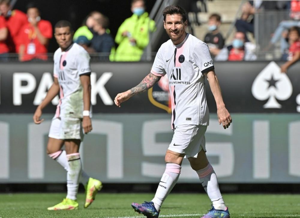 Messi preferiu não aconselhar Mbappé. AFP