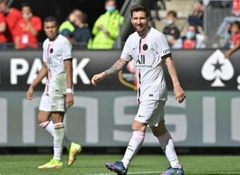 Ben Arfa reconoció su admiración por el binomio Messi-Mbappé. AFP