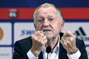 Jean-Michel Aulas no se mordió la lengua a la hora de criticar el arbitraje. AFP/Archivo