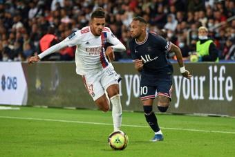 Neymar durant la rencontre de Ligue 1 entre le PSG et Lyon. AFP