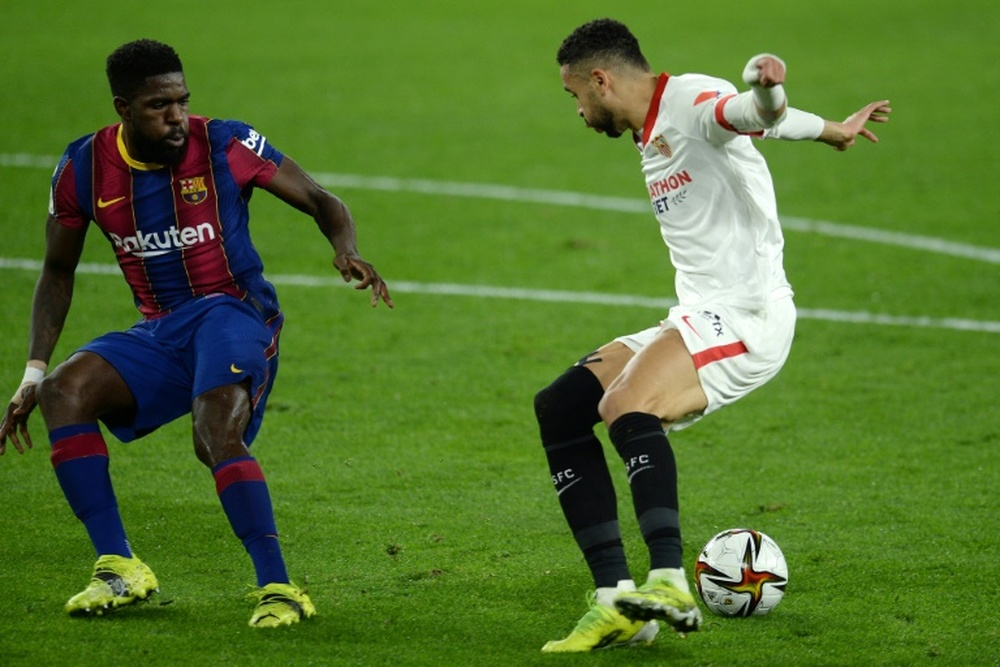 Umtiti, Neto, and Coutinho will be asked to get a salary cut. AFP