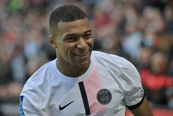 Mbappé no estará ante el Lille. AFP